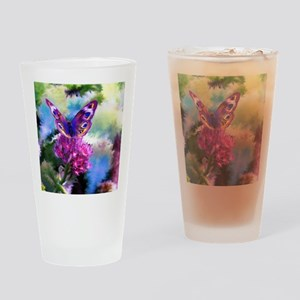 Colorful Abstract Butterfly Drinking Glass