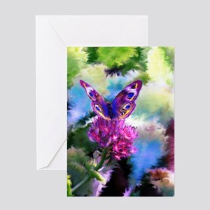 Colorful Abstract Butterfly Greeting Card