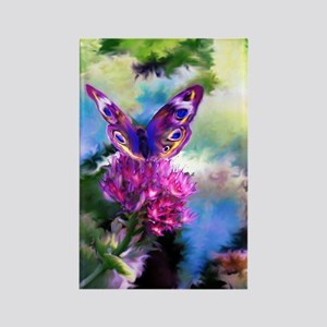 Colorful Abstract Butterfly Rectangle Magnet