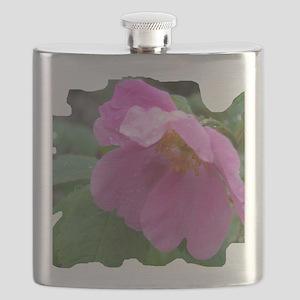 Alaska Wild Rose Flask