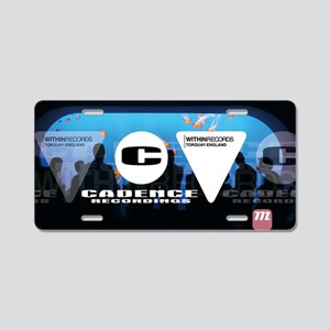 Label logos Aluminum License Plate