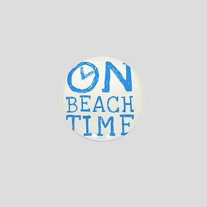On Beach Time Mini Button