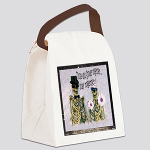 Mr and Mrs Skully Canvas Lunch Bag
