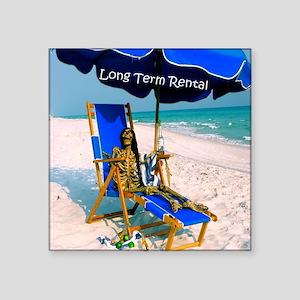 "Long Term Rental Square Sticker 3"" x 3"""