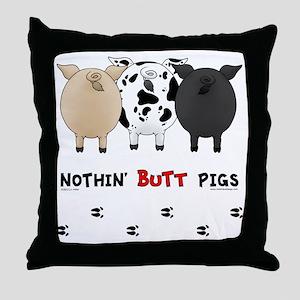 pigbuttsnew Throw Pillow