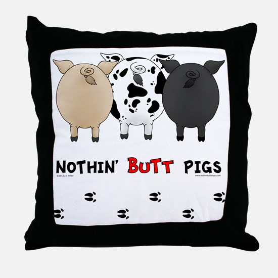 pigbuttsnew Throw Pillow