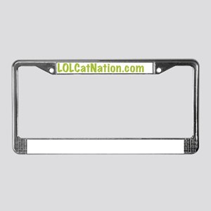 LOL Cat Nation Green License Plate Frame