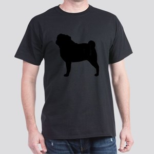 Pug Silhouette Dark T-Shirt