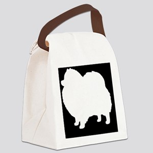 Pomeranian Hitch Cover Canvas Lunch Bag