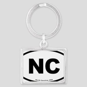 North Carolina USA North Caroli Landscape Keychain