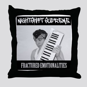 Nightshift Supreme Fractured Emotiona Throw Pillow