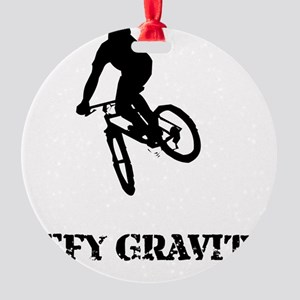 Defy Gravity Round Ornament