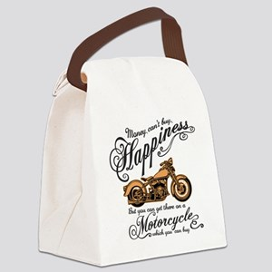 Happiness - Motorcycle Canvas Lunch Bag
