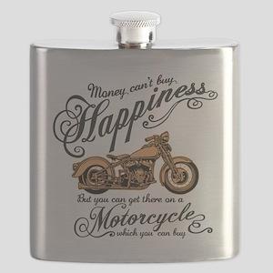 Happiness - Motorcycle Flask