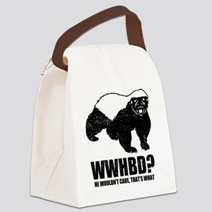 What Would Honey Badger Do Canvas Lunch Bag