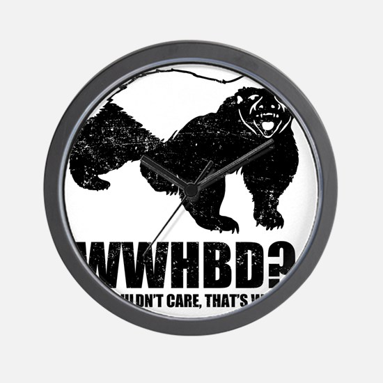 What Would Honey Badger Do Wall Clock
