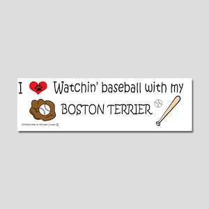 boston terrier Car Magnet 10 x 3