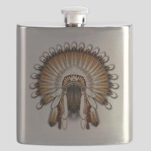 Native War Bonnet 01 Flask