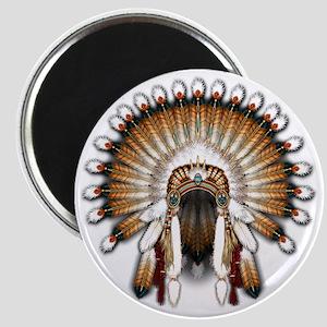 Native War Bonnet 01 Magnet