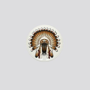 Native War Bonnet 01 Mini Button