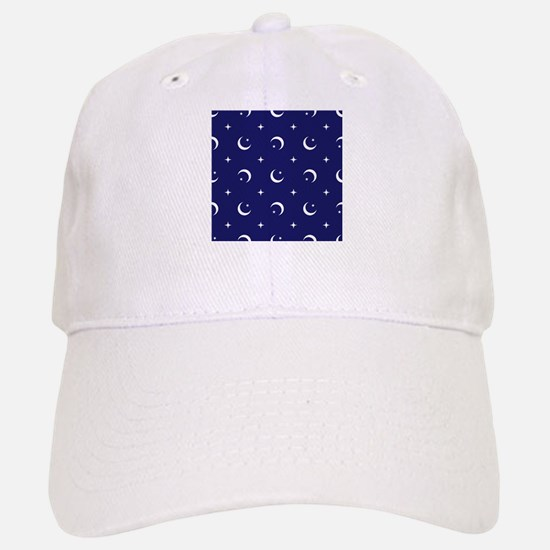 Celestial geometric design crescent moons star Baseball Baseball Cap