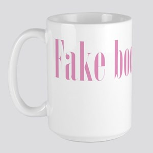 Fake boob man Large Mug