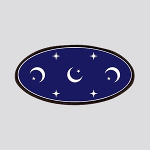 Celestial geometric design crescent moons st Patch