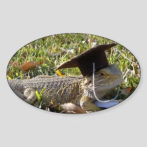 Graduate Spiny the Lizard Sticker (Oval)