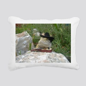 Musician Spiny the Lizar Rectangular Canvas Pillow