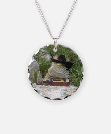 Musician Spiny the Lizard Necklace
