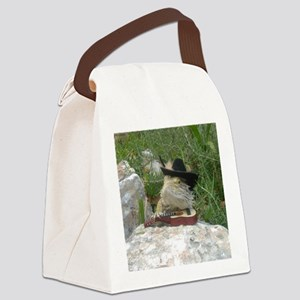 Musician Spiny the Lizard Canvas Lunch Bag