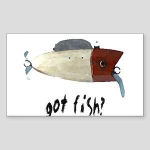 """Just Fishing"" Rectangle Sticker"