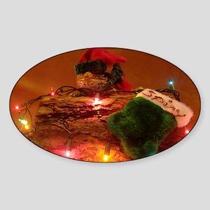 Christmas Spiny the Lizard Sticker (Oval)