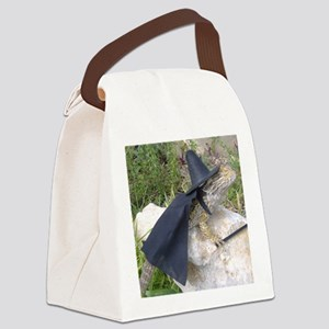Spiny the Lizard Wizard Canvas Lunch Bag
