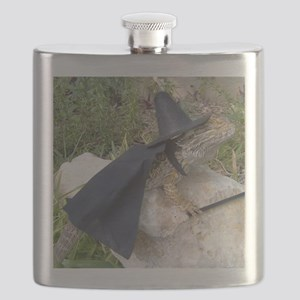 Spiny the Lizard Wizard Flask