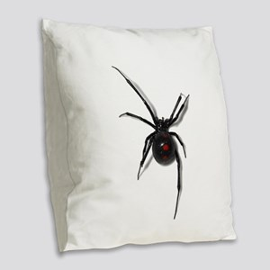 Black Widow No text Burlap Throw Pillow