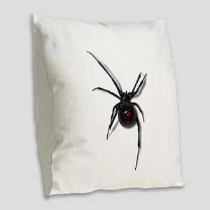 Black Widow No text Burlap Throw Pillow