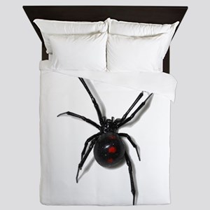Black Widow No text Queen Duvet
