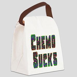 chemo sucks acid colors Canvas Lunch Bag