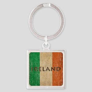 Vintage Ireland Square Keychain