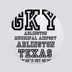 TEXAS - AIRPORT CODES - GKY - ARLIN Round Ornament