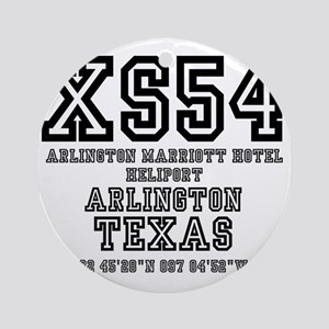 US - TEXAS - AIRFIELD CODES - XS54  Round Ornament