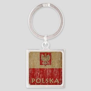 VintagePolska Square Keychain