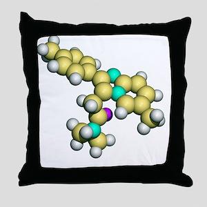 Zolpidem, sedative drug Throw Pillow