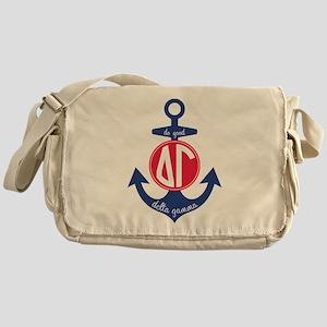 Delta Gamma Anchor Messenger Bag