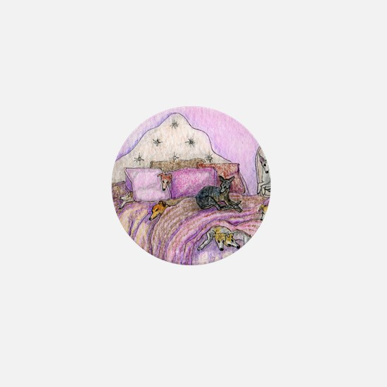 Sighthounds slumber party Mini Button