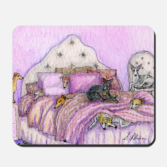 Sighthounds slumber party Mousepad