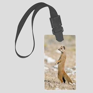 Yellow mongoose Large Luggage Tag