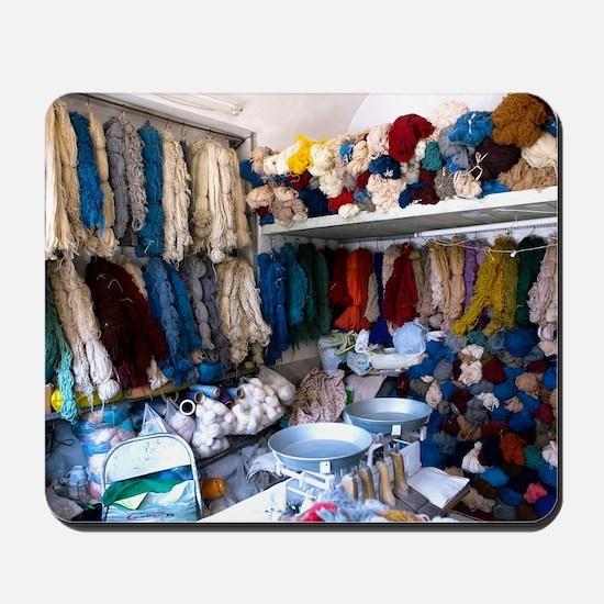 Wool shop, Iran Mousepad