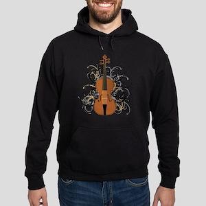 Violin Swirls Hoodie (dark)